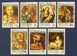 Grenada Grenadines, 1975, Christmas, Virgin And Child Paintings By Artists Named, Used - Grenada (1974-...)