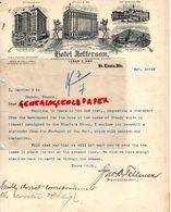 ETATS UNIS AMERIQUE- RARE LETTRE HOTEL JEFFERSON-SAINT LOUIS-PLANTERS -EASTMAN -ARLINGTON-GAINES-FORDYCE-LYMAN T. HAY - Etats-Unis