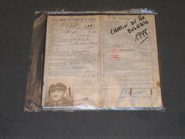 SOCIETE NATIONALE DES CHEMINS DE FER VICINAUX-CARTE IDENTITE De THIRION J.Dom.à OLNE Rue VILLAGE 32 - 1948 - Chemin De Fer