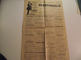 Affiche Publicitaire, Vers 1900,Pharmacie Vauboudolle, Limoges - Affiches