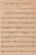 La Voix Du Clocher Th.Tavernier  B.Devaux Mélodie Mandoline Violon    Gaité De Pinsonnette Polka  BE - Partitions Musicales Anciennes