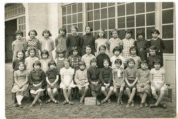 Groupe Scolaire PAINLEVE Rue Pierre Corneille LYON 69 Ecole Groupe Kids Fille Girls Enfant 1937 1938 30s - Personnes Anonymes