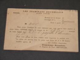 BRUXELLES - 1901 - CPA TRAMWAY BRUXELLOIS 6 IMPASSE DU PARC - Chemins De Fer, Gares