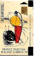 CARTE-n-PUBLIC-F152A.770-50U-SO3-05/91-ROLAND GARROS-V°N°143835-1 Sans Barre-Utilisé-TBE - 1991