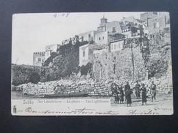 Frankreich Levante 1908 AK Jaffa Der Leuchtthurm Le Phare The Lighthouse. Stempel Jerusalem Palestine - Levant (1885-1946)