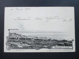 Frankreich Levante 1903 AK Tiberiade Et Son Lac. Terre Sainte No 12. Stempel Jerusalem Palestine Nach Huy Mit AK Stempel - Levant (1885-1946)