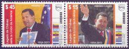 Used Uruguay 2014,UPAEP, Hugo Chavez 2V [:] - Uruguay