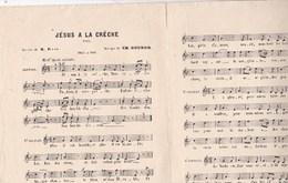 Jésus à La Crèche  Noël  Musique Ch.Gounod  Solo Ou Duo BE - Partitions Musicales Anciennes