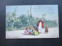 AK 1905 Künstlerkarte Arab Children At Play. Tucks Post Card Oilette No 7204 - Künstlerkarten