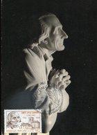 40468 France, Maximum 1986,  Statue Du Saint Curè D'ars, Par Cabuchet - 1980-89