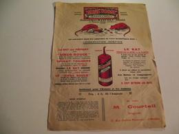 Feuillet Publicitaire, Vers 1920, Virus Rouge,raticide, Limoges - Publicités
