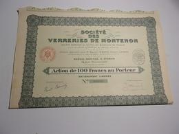 VERRERIES DE MONTENON (1929) - Non Classés