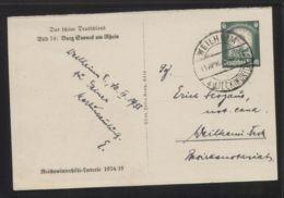 Dt. Reich - Ganzsache/Bild-Postkarte MiNr. P 254 (Burg Sooneck Am Rhein) - Gelaufen 11.4.1935 WEILHEIM A. D. TECK - Deutschland
