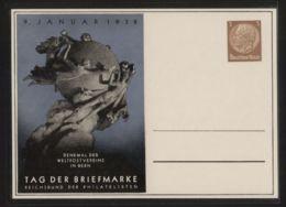 Dt. Reich - Privatganzsache/Postkarte PP 122 C 75/01 - 9.1.1938 Tag Der Briefmarke  - Ungebraucht - Deutschland