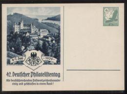Dt. Reich - Privatganzsache/Postkarte PP 142 C 3/03 - 42. Deutscher Philatelistentag 6.-7. Juni 1936  - Ungebraucht - Deutschland