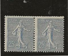 SEMEUSE LIGNEE - N° 132 PAIRE NEUVE CHARNIERE -ANNEE 1903 - COTE : 160 € - France