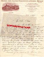SUISSE- FRIBOURG-BULLE-RARE LETTRE MANUSCRITE HOTEL DES ALPES TERMINUS & GARE-L. GAILLARD PROPRIETAIRE 1927 - Suisse