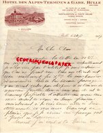 SUISSE- FRIBOURG-BULLE-RARE LETTRE MANUSCRITE HOTEL DES ALPES TERMINUS & GARE-L. GAILLARD PROPRIETAIRE 1927 - Svizzera