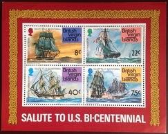 British Virgin Islands 1976 American Bicentennial Minisheet MNH - Iles Vièrges Britanniques