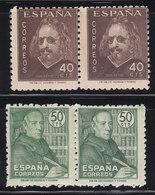988 QUEVEDO Y 1011 FEIJOO ** A 2 DE CADA SELLO, TOTAL 4 SELLOS NUEVOS SIN CHARNELA - OFERTA POR LIQUIDACIÓN - 1931-50 Nuevos & Fijasellos