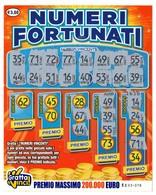GRATTA E VINCI   - NUMERI FORTUNATI DA 3 €  - USATO Numero Serie EE Primo Numero 62 - Billets De Loterie
