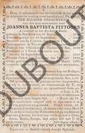 Doodsprentje Pater/Frère Joannes Baptista Pittoors °1844 Borsbeek †1895 Turnhout /Mechelen  (F108) - Décès