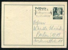 """Deutsches Reich / 1934 / Sonderpostkarte """"Nothilfe"""" Masch.-Stempel Essen """"Jeder Volksgenosse Rundfunkhoerer"""" (1/351) - Deutschland"""