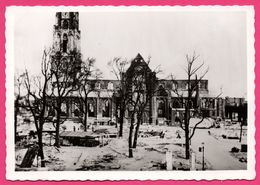 Cp Dentelée - Verwoest Rotterdam 1940 - No P Gr Kerk Vanaf Gr Markt. - Eglise - Bombardement - Gebr. SPANJERSBERG - Rotterdam