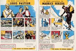 """Buvard/Lot De 5/ Série """"Toi Aussi Tu Seras Sobre""""/Antialcoolisme Sobriété/ P E Victor, Fleming, Pasteur, Herzog Cousteau - Buvards, Protège-cahiers Illustrés"""