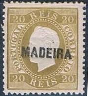 Madeira, 1871/6, # 16, Sob. A, MH - Madeira