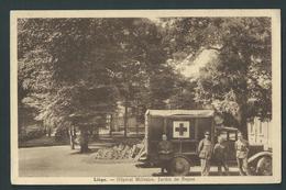 Liège. Hôpital Militaire. Jardin, Ambulance, Militaires. Assez Rare. - Liege
