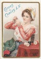 Superbe Petit Calendrier Illustré De La Manufacture Parisienne Des Cotons Et Cables L.V. - Calendriers