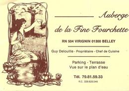 *Carte Visite Restaurant - Auberge De La Fine Fourchette à BELLEY (01) - Cartes De Visite