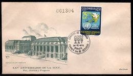 COLOMBIA- KOLUMBIEN - 1970.FDC/SPD. 25 YEARS OF UNITED NATIONS. - Colombia