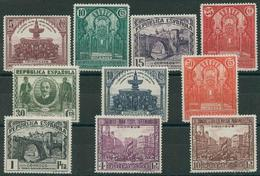 España 1931. Edifil 604/13** - Cat. 2016: 165€ - III Congreso Unión Postal Panamericana - 1931-Today: 2nd Rep - ... Juan Carlos I