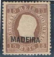 Madeira, 1871/6, # 22, Sob. B, MNG - Madeira