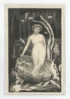 Cpa Femme Nue Surréalisme Coquillage Fonds Marins - Nus Adultes (< 1960)