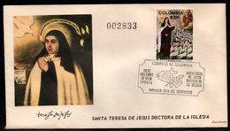 COLOMBIA- KOLUMBIEN - 1970.FDC/SPD. MOTHER St. TERESA OF JESUS - Colombie