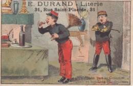 Chromo Magasin Durand Lierie Paris ..lit Cage Sommier Toilettes En Fer Jardin .. Militaire Boisson Cassis - Sonstige