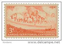 United States Scott # 1061 1954 3c Kansas Territory MNH This Is A Stock Photo - Unused Stamps