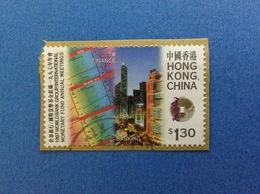 1997 HONG KONG CHINA FRANCOBOLLO USATO STAMP USED - FINANCE BANKING $ 1.30 - 1997-... Regione Amministrativa Speciale Della Cina