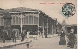 CHALONS SUR MARNE  LE MARCHE  EN  1906 - Châlons-sur-Marne
