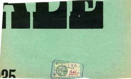 """Timbre Fiscal:  Timbre Fiscal Type """"Série Unifiée"""" Sur Fragment D'affiche - Fiscaux"""