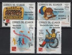Ecuador (2007) Yv. 2048/50  /  UPAEP - Education - Bus - Wheelchair - Kite - Children Games - Emissions Communes