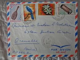 MADAGADCAR 1965 LETTRE AVEC 4 TIMBRES - Madagascar (1960-...)