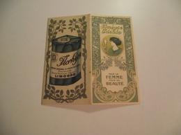 Calendrier Publicitaire, 1913, FLORHYSE IDEALE , Creme De Beauté Pour La Femme - Calendriers