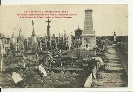 54 - DOMJEVIN / TOMBES MILITAIRES ET MONUMENT ELEVE DANS LE CIMETIERE - Francia