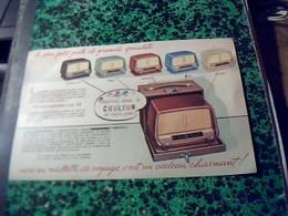Publicité   Tract TSF Radio POSTE Portatif  Miniature   DUCRETET THOMSON //D 2923 Choix De Coloris  Annee  1950 - Publicités