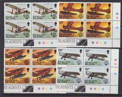 Falkland Islands 1983 Bicentenary Of Manned Flight  4v  Bl Of 4 (corner) ** Mnh (41777A) - Falklandeilanden