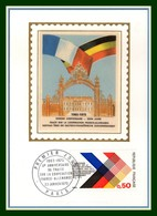 Carte Maximum Silk Soie France N° 1739 Emission Commune France Allemagne 1973 - Emissions Communes